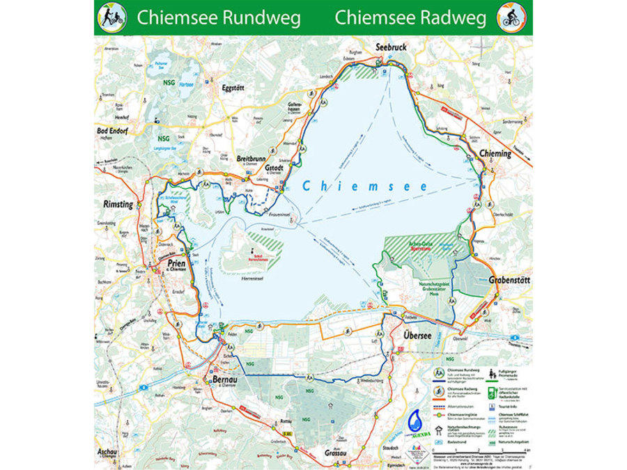 Chiemsee Karte.Chiemseeagenda Abwasser Und Umweltverband Chiemsee